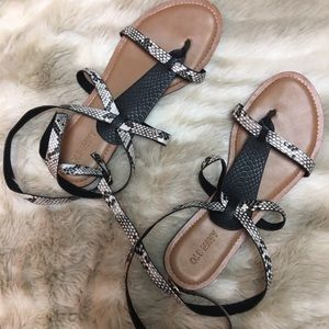 Perfect condition snake vegan leather sandals
